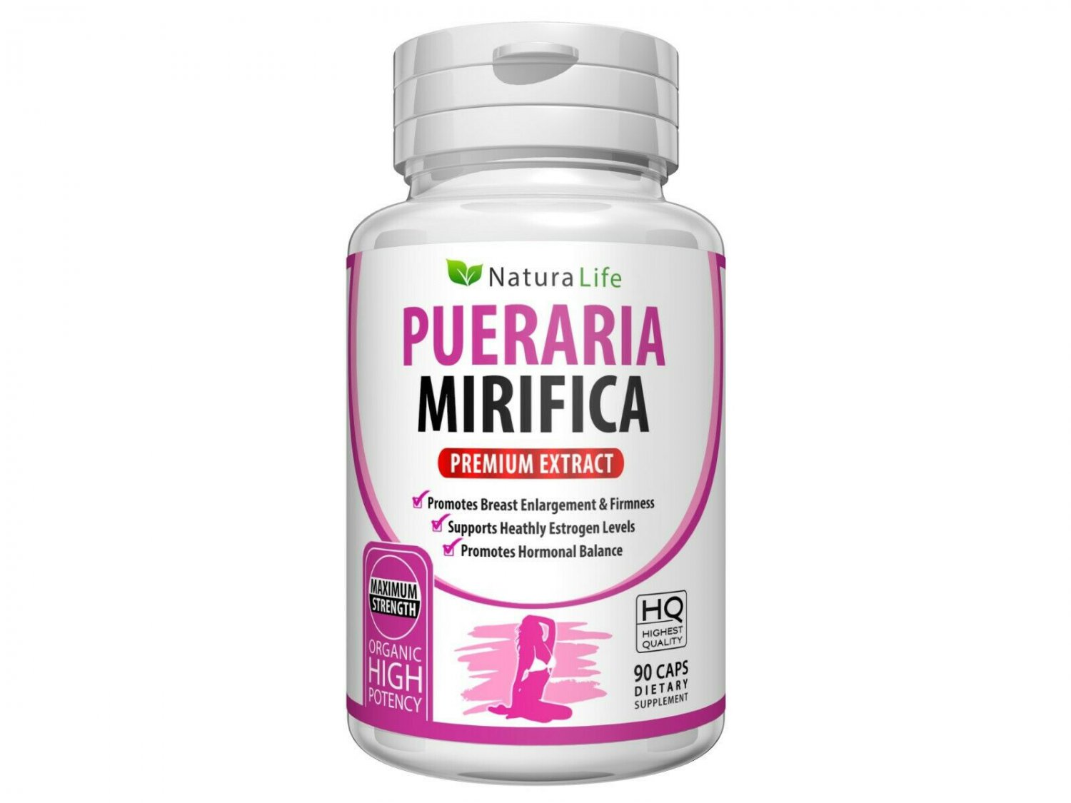 PURE PUERARIA MIRIFICA PILLS 5000mg Extract BUST BREAST ENLARGEMENT 90 CAPSULES