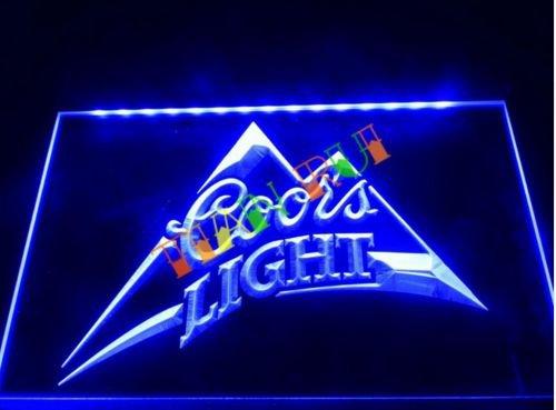 Coors Light Beer Bar Pub LED Neon Light Sign man cave b18