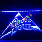 Coors Light Beer Bar Pub LED Neon Light Sign man cave b18