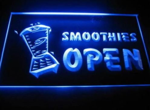 Smoothies Open Logo Beer Bar Pub Light Sign Neon man cave
