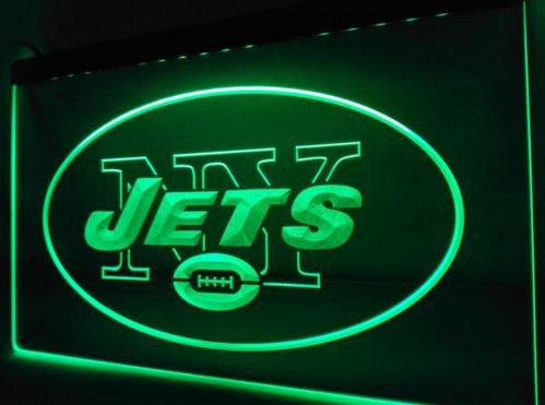 New York Jets Super Bowl Bar LED Neon Light Sign for Game Room,Office,Bar,Man Cave, Decor NEW