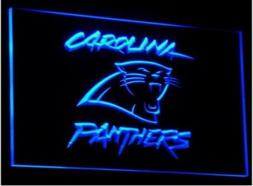 Carolina Panthers Super Bowl Bar LED Neon Sign for Game Room,Office,Bar,Man Cave, Decor NEW