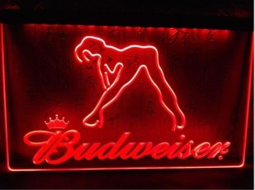 BUDWEISER SEXY WOMAN Bar LED Neon Sign for Game Room,Office,Bar,Man Cave, Decor NEW