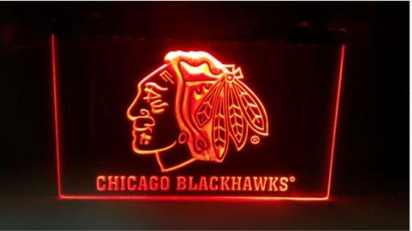 Chicago Blackhawks Hockey LED Neon Sign for Game Room,Office,Bar,Man Cave, Decor NEW