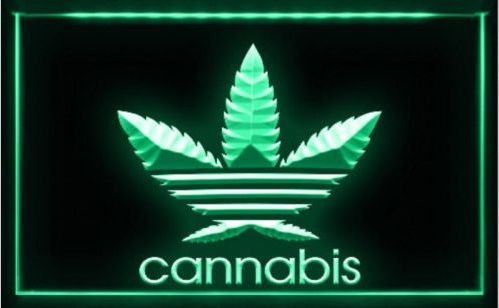 Cannabis Marijuana Weed High Life 3d signs LED Sign for Game Room,Office,Bar,Man Cave, Decor NEW
