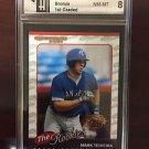 2001 Donruss Baseball's Best Mark Teixeira GAI Graded 8 Texas Rangers