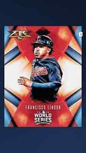 2016 Francisco Lindor Topps BUNT World Series Base Fire Digital Card Indians