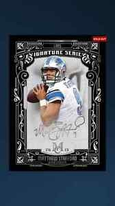 Topps Huddle Matthew Stafford Museum Collection Signature Series Auto Lions