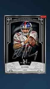 Topps Huddle Eli Manning Museum Collection Framed Auto Digital Card