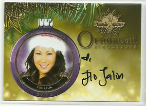 2015 Flo Jalin Benchwarmer Holiday Past & Presents Ornament Signatures Auto