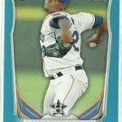 2014 Michael Feliz Bowman Prospects Blue Parallel 3/500 Houston Astros