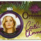 2016 Caitlin O'Connor Benchwarmer Pink Archive FE Holiday Ornament Signature