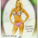 2014 Michelle Baena Benchwarmer Happy Easter Autograph Signature Auto