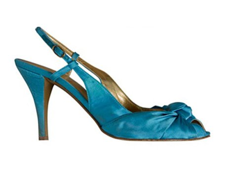 NEW J CREW MARTINE SATIN HEELS in MOSAIC BLUE sz 9
