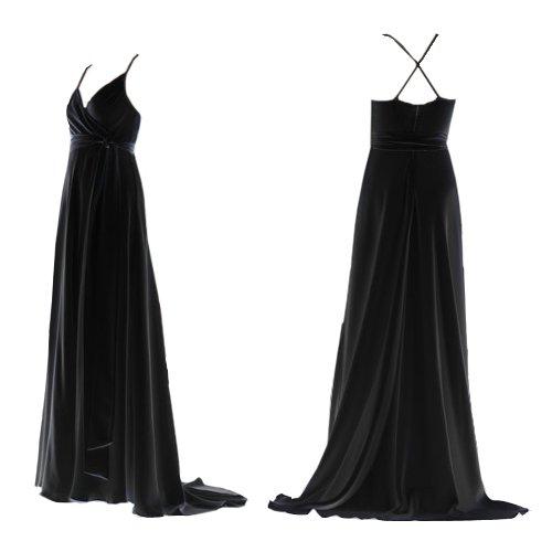 NWT J CREW BLACK GODDESS LONG SILK DRESS size 10