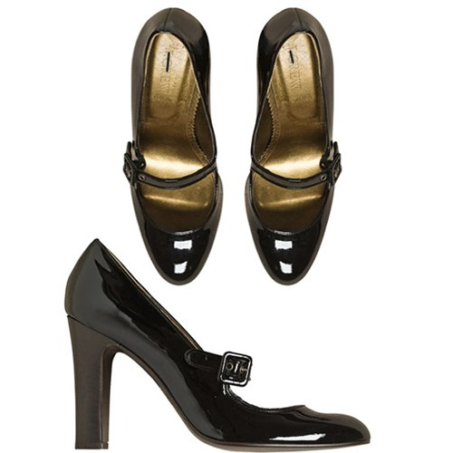 NEW J. Crew Black Patent Leather Mary Janes Heels size 5