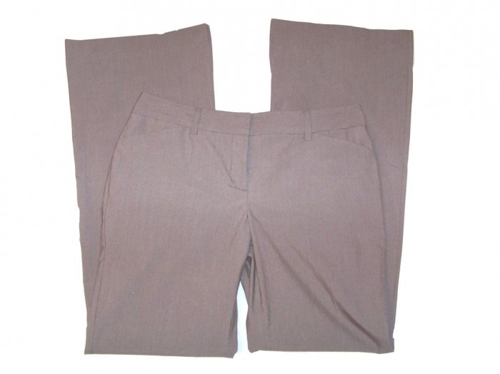 NEW EXPRESS EDITOR LUXURY STRETCH PANTS in MOCHA size 6