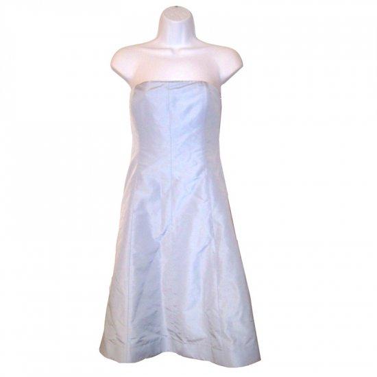 NEW J CREW SADIE SILK FAILLE DRESS in POOL BLUE size P4 (4 Petite)