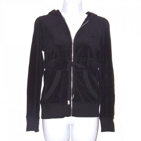 NWT JUICY COUTURE BLACK TERRY HOODIE- M