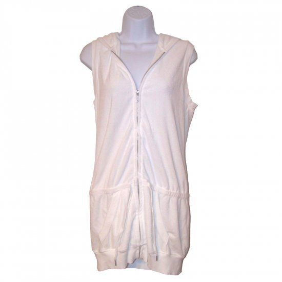 JUICY COUTURE LONG WHITE TERRY COVER-UP - XL