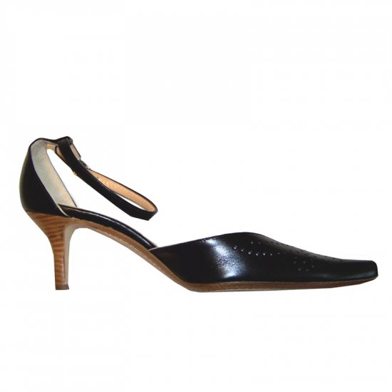 NEW J CREW BLACK POINTY-TOED HEELS size 7.5