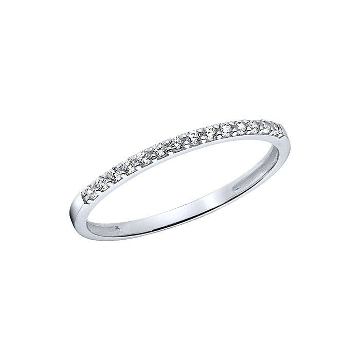 14K White Gold Lab Created Diamond Band Ring Engagement Ring Anniversary Ring Wedding Ring