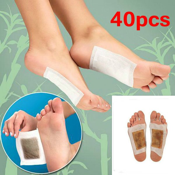 40Pcs Detox Foot Pads Detoxification Patches Feet Care