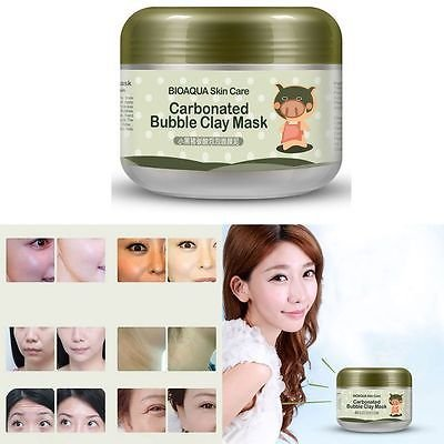Carbonated Bubble Clay Facial Mask Whitening Oxygen Mud Blackhead Remove Acid Pore Cleansing Cleanse
