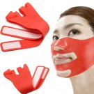 3D Silicone Lift Up Chin Cheek V Face Slim Slimming Anti-Wrinkle Mask Thin Belt