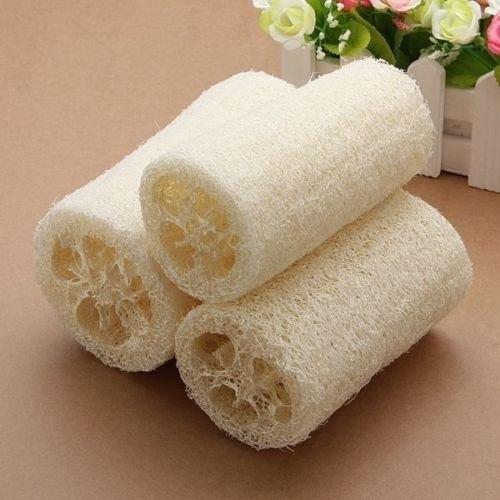 Natural Loofah Shower Wash Body Sponge Scrubber Spa