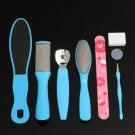 8 in 1 Foot Care Set Kit Dead Skin Remover Fork Pedicure File Callus Replacement Blades Polish
