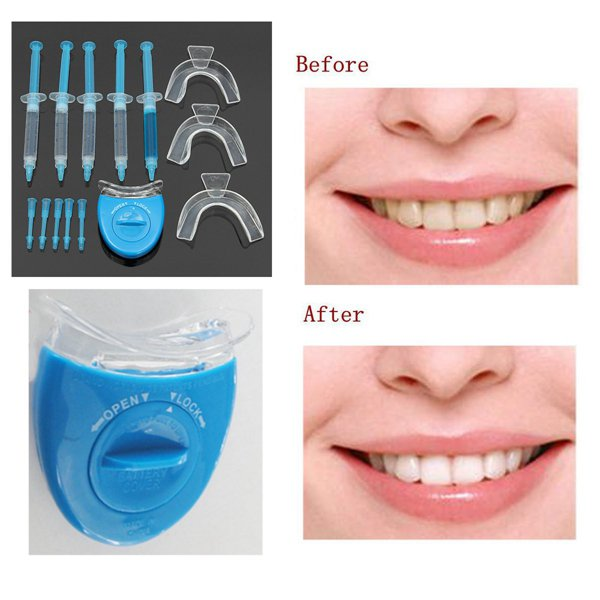 Home Teeth Whitening Bleaching Kit Tooth Whitener Gel Dental Oral Care Set