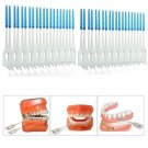 40pcs Interdental Between Teeth Floss Brush Elastic Massage Gum Toothpick