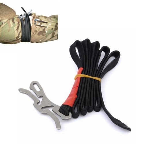Elastic Outdoor Emergency Hemostasia Rope First Aid Combat Application Tourniquet