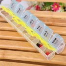 Weekly Medicine Organizer Pill Box Tablet Storage Container Case