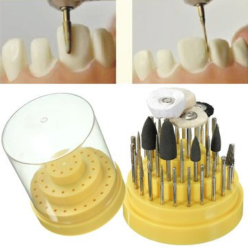 41Pcs Dental Silicone Rubber Rotary Tungsten Steel Teeth Polishing Burs Teeth Whitening 2.35mm