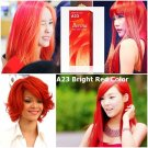 BERINA A23 Shading Brilliant RED Lasting HAIR DRY Shading CREAM Design PUNK