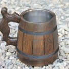 Handmade Unique Design Wood Beer Mug Souvenirs Men Gift Natural Eco Friendly Cup