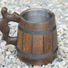 Handmade Unique Design Wood Beer Mug Souvenirs Men Gift Natural Eco Friendly Cup