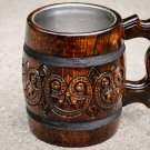 Carved wooden beer mug exclusive beer mug Hand work