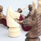 Wooden handmade carved chess