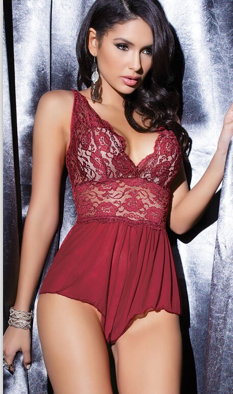 Seductive Lace Red Babydoll