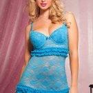 Ruffles Trim Sheer Lace Valentines Cute Dress