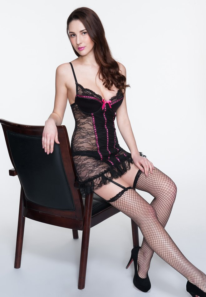 Sexy Sheer Lace Babydoll