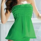 Green Mesh Ruffled Babydoll