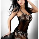 Sheer Chemise with Delicate Embroidered Floral Prints