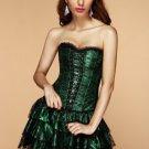 Emerald Lace Corset Dress