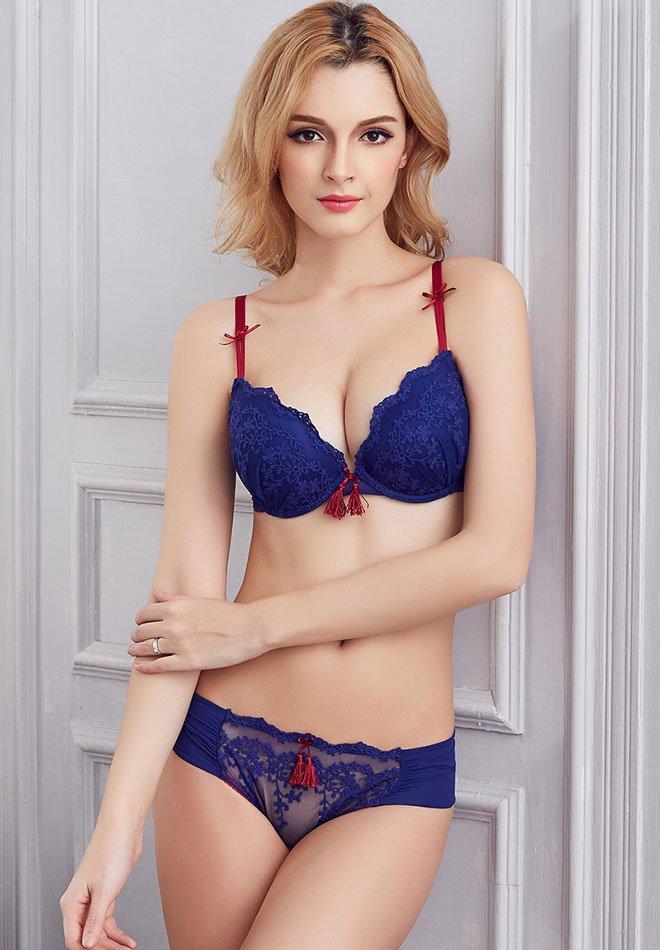 Adjustable Sexy Bra Underwear Sets Lovely Pendant Women Gather Bra Set