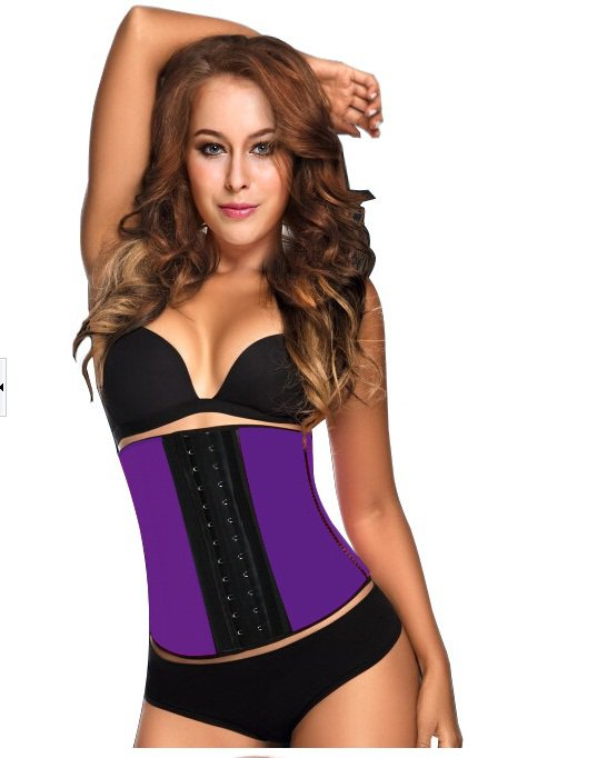 Purple Latex Workout Underbust Corset