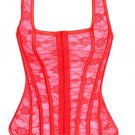Red Lace Tank Style Boned Corset